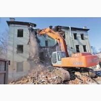 Предоставляем услуги по демонтажу Вашего дома с привлечение техники