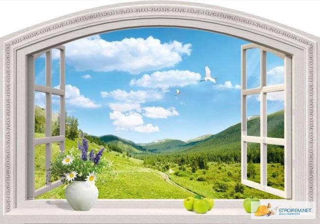 Фото окно в природу