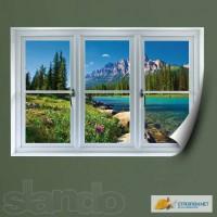 Фотообои. Фальш окно. 3d наклейки на стену.