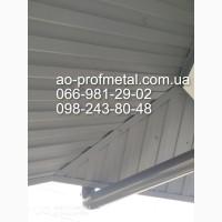 Профнастил для подшивы ПС-8 7024 матовый, Профлист 7024 РЕМА Серый Графит