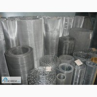 Сетка тканая н/ж 5х2 мм сталь 12Х18Н10Т Гост-3826 ширина 1 м