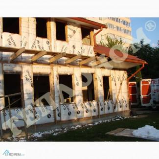 Утеплення каркасних будинків заливним пінопластом екоізол