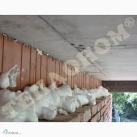 Утеплення стін, колодязної кладки заливним пінопластом екоізол