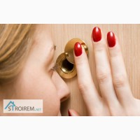 Врезка и установка дверного глазка