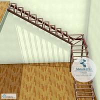 Металлокаркас лестницы г-образный