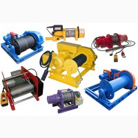 Продажа электролебедок в Украине. Продажа строительных кранов грузоподъемностью 500 кг