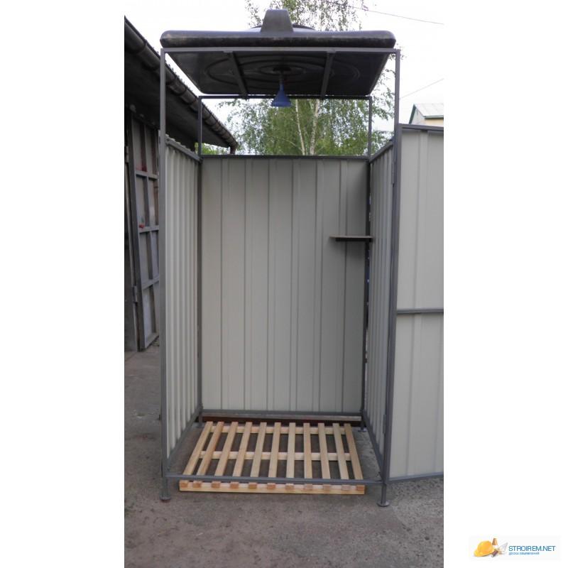 Летний душ на даче из профнастила своими руками фото и размеры 1