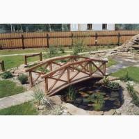 Садовый мостик из дерева