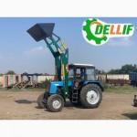 Кун на трактор МТЗ - погрузчик Деллиф Лайт 1200 с ковшом 1 м3