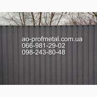 Профнастил серый графит РАЛ 7024, Металлопрофиль серого цвета матовый RAL 7024/