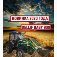 Погрузчик кун на трактор ДТЗ 5504 К, Деллиф Бейби 800 с джойстиком