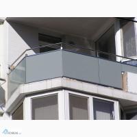 Стеклянные ограждения лестницы, балкона, террасы