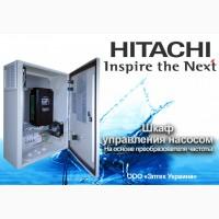 Управление скважинным трёхфазным насосом преобразователями частоты Hitachi