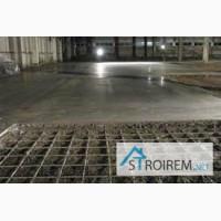 Промышленные бетонные полы с топингом