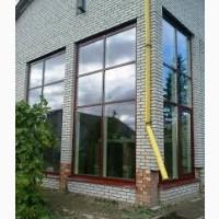 Остекления фасадных систем из алюминия с покраской