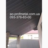 Профнастил на подшиву крыши ПС-8 7024 матовый Серый Графит
