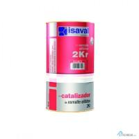 Полиуретановая универсальная эмаль-лак ISAVAL 2КР 0.75л - защита металла, камня, бетона