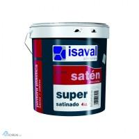Интерьерная краска высшего качества Isaval Сатинадо Супер 4л белая, тонируется RAL