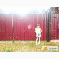Металлические ворота Киев, забор из профнастила Киев, калитки металлические