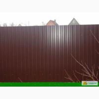 Забор из профнастила , изготовление и установка