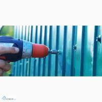 Забор из профнастила, монтаж вашего забора из металопрофиля