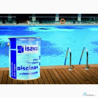 Краскадля бетонных бассейнов и прудов ISAVAL Хлоркаучук 4 л голубой