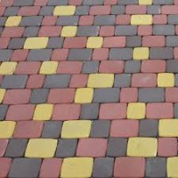 Тротуарная плитка Старый город высота 25, 40, 60 мм. разные цвета