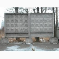 Заборные плиты, столбы б/у, монтаж