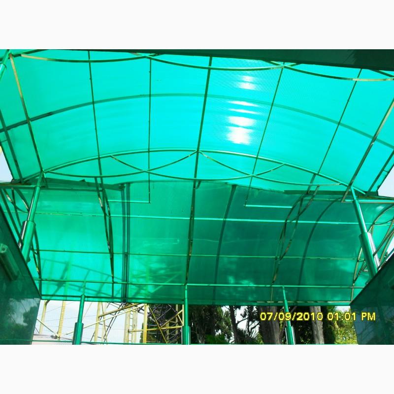 Фото 5. Сотовый поликарбонат Polygal PolyShade green(Израиль) 8 мм