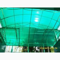 Сотовый поликарбонат Polygal PolyShade green(Израиль) 8 мм
