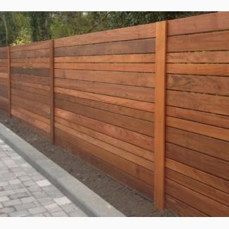 Забор деревянный ( дерево или термодерево) сосна, яснень, дуб, граб