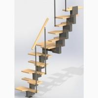 Лестницы маршевые модульные сборные