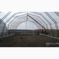 Фермы металлические шириной 12, 15, 18м (каркасы ангаров)