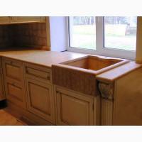 Стільниці з натурального каменю на кухню стільниця з мармуру граніту у ванну кімнату