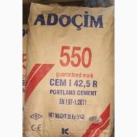 Турецкий цемент М500 в мешках, цемент в биг бегах Турция