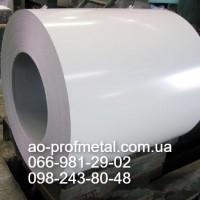 Лист гладкий с полимерным покрытием RAL 9003, Гладкий плоский лист белого цвета