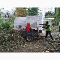 Аренда дробилки Киев. Измельчитель веток. Спил деревьев. Обрезка сада