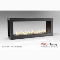 Сквозной встраиваемый очаг (биокамин) Space Wild Flame 2000