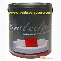 Бриллиантово-белая малярная краска с повышенной покрываемостью EXIN EXCLUSIV для потолка