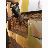 Демонтаж фундамента, демонтаж стен, стяжки, штукатурки