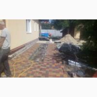 Укладка плитки тротуарной, брущатки, камня, бордюров, отливов, водосточных систем, планировка