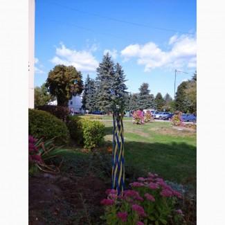 Декоративне кольорове плетене дерево Вишиванка