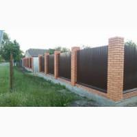 Профнастил коричневый в Киеве, длинна профиля два метра.Распродажи от завода