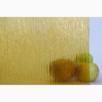 Стекло узорчатое желтое
