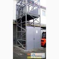 Лифт грузовой на 1 тонну установка подъёмника шахтного снаружи здания. Монтаж под ключ