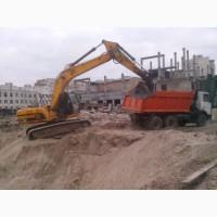 Вывоз земли Киев. Вывоз грунта Киев. Услуги самосвала