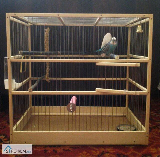 Как сделать самому клетку для попугая