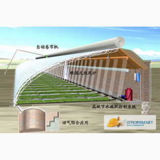 Проект теплицы - расчет тепловых потерь, проект отопления, полива