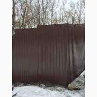 Забор цветной из профнастила цена в Киеве с доставкой