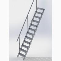 Лестница стальная малогабаритная внешняя Мини